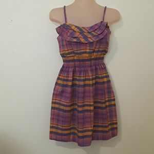 Girls 10/12 Purple Plaid Dress